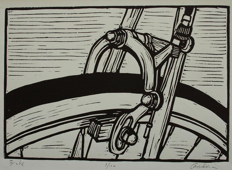 Printmaking Drawing - Brake by William Cauthern