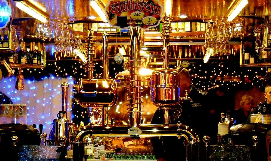 German Beer Photograph - Brass Beer by Sharon Costa