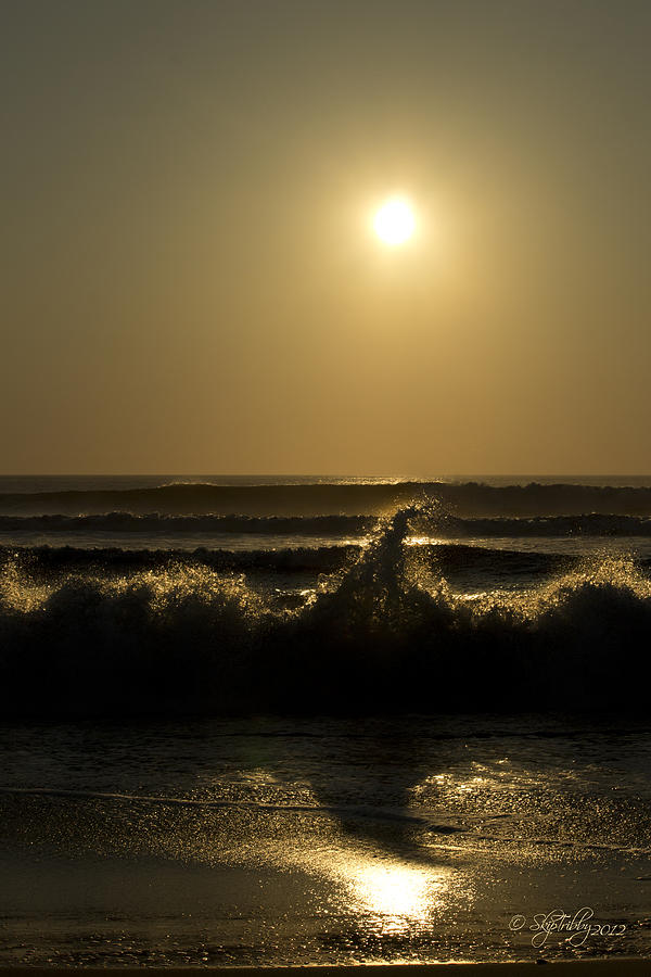 Ocean Photograph - Breaking Waves by Skip Tribby