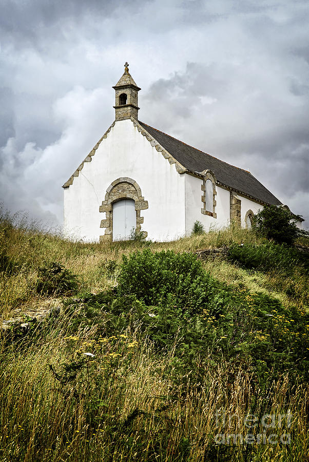 Old Photograph - Breton Church by Elena Elisseeva