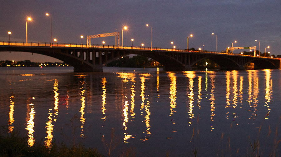 Bridge Photograph - Bridge Over Water by Jocelyne Choquette