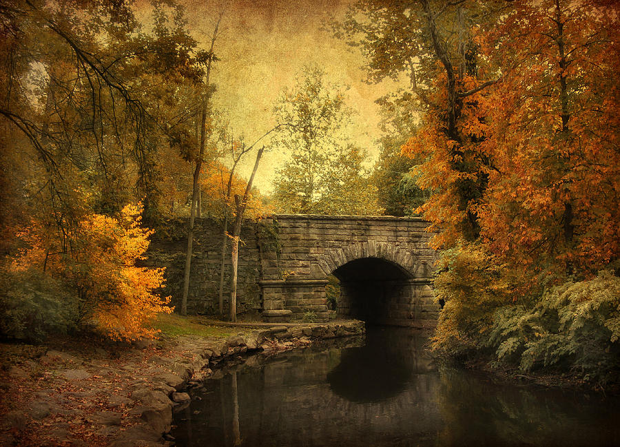 Bridge Photograph - Bridge To Autumn by Jessica Jenney