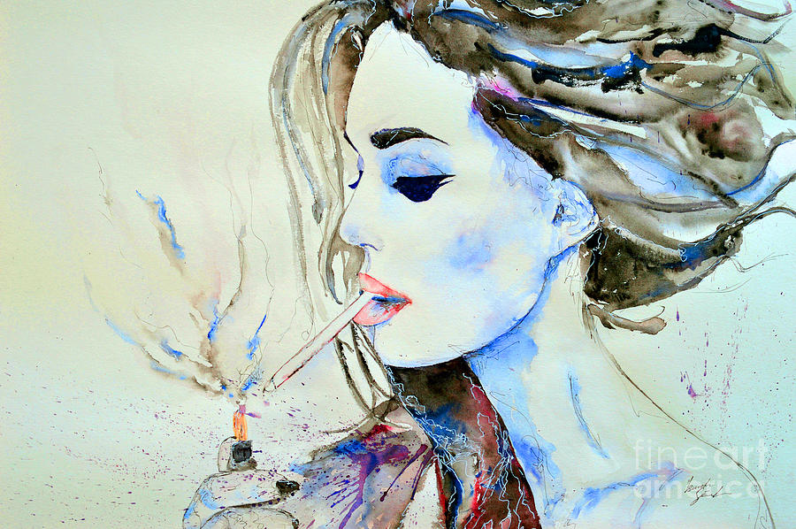 Actress Painting - Brigitte Bardot by Ismeta Gruenwald