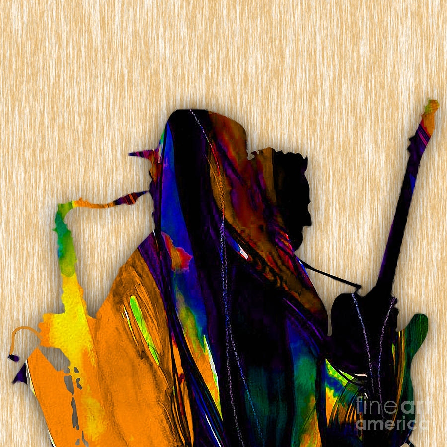 Clarence Clemons Mixed Media - Bruce Springsteen and Clarence Clemons by Marvin Blaine