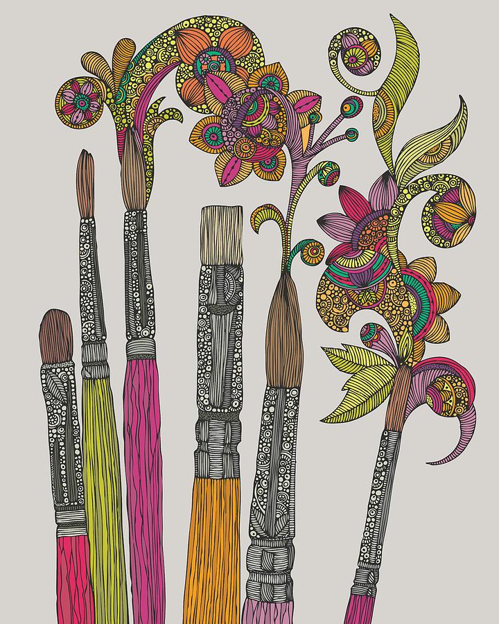 Illustration Photograph - Brushes by Valentina