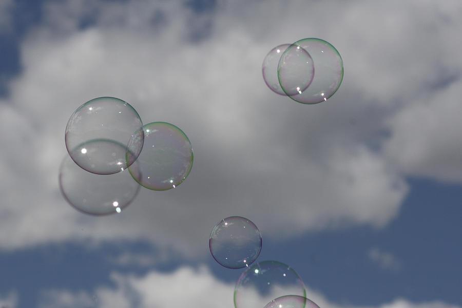 Bubble Photograph - Bubbles In The Clouds by Cathie Douglas