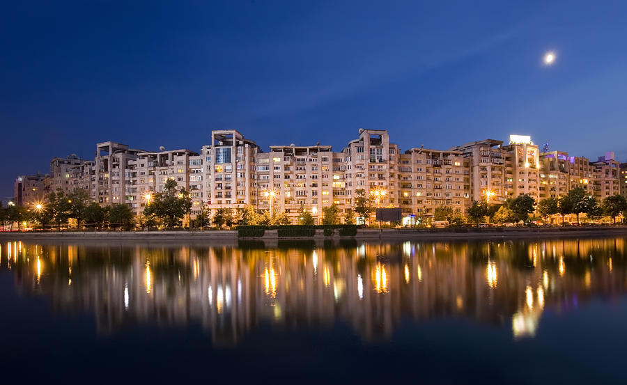 Night Photograph - Bucharest by Ioan Panaite