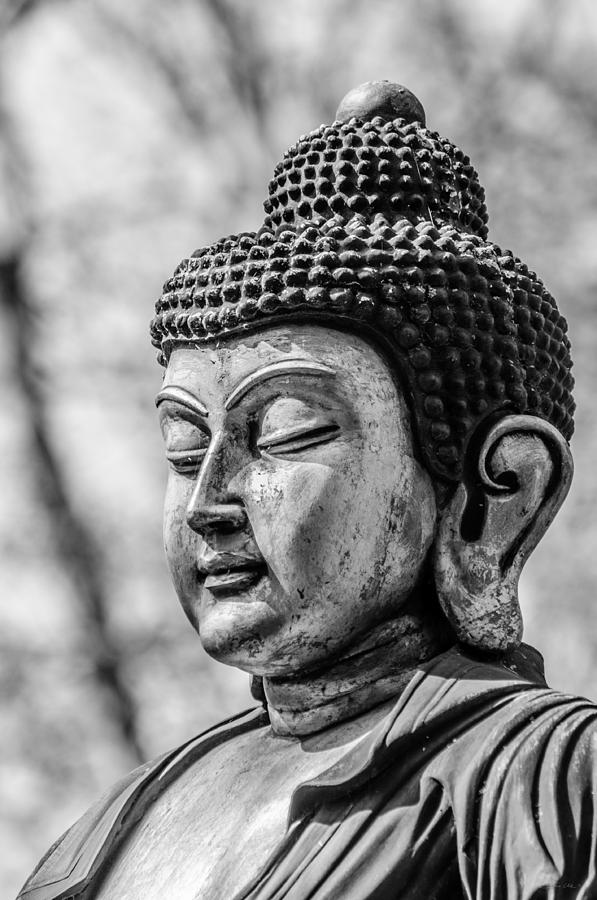 Asia photograph buddha siddhartha gautama in black and white by colin utz