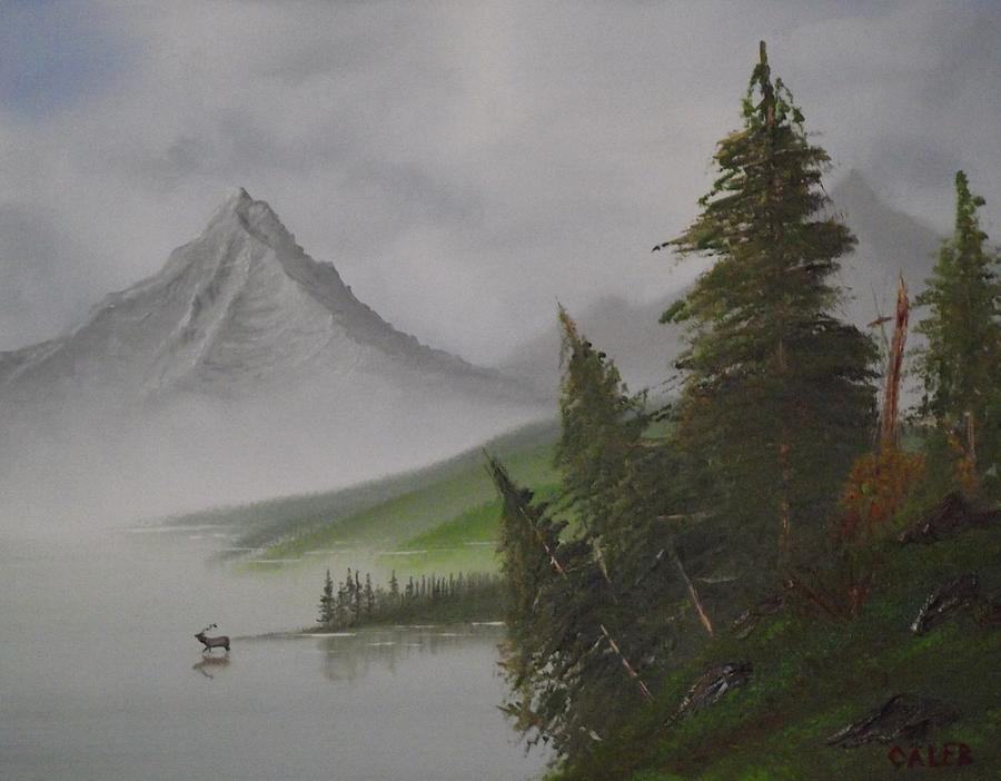 Landscape Painting - Bull Lake by Caleb Mitchell