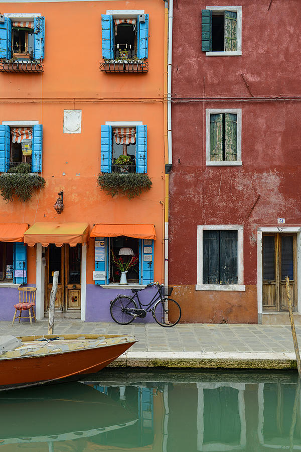 Ancient Photograph - Burano Italy by Brandon Bourdages