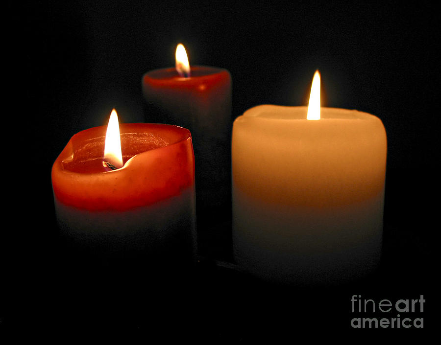 Candle Photograph - Burning Candles by Elena Elisseeva