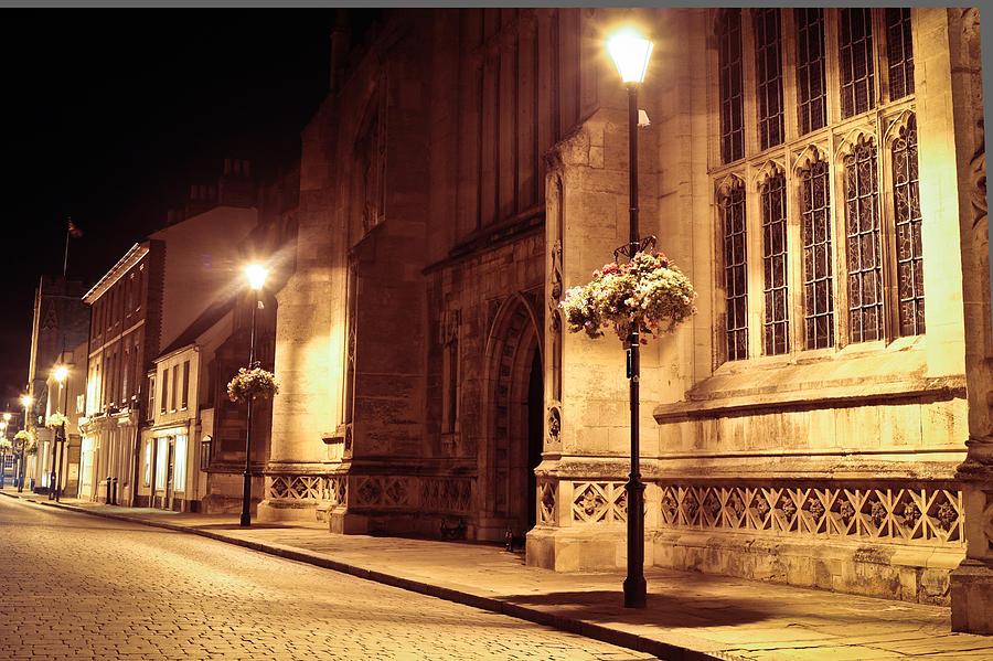 Abbey Photograph - Bury St Edmunds Night Scene by Tom Gowanlock