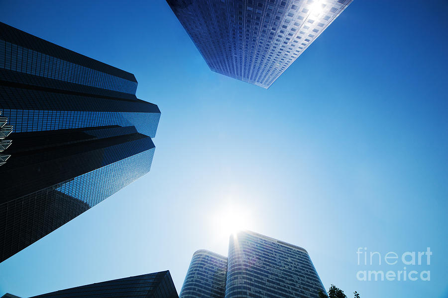 Skyscraper Photograph - Business Skyscrapers by Michal Bednarek