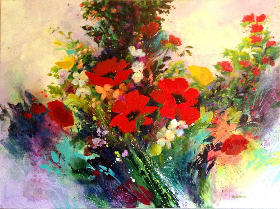 Flowers Painting - Butterfly by Madeleine Holzberg
