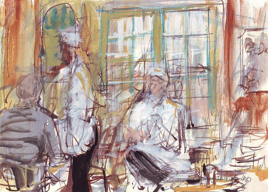 New Drawing - Cafe Du Monde  by Edward Ching
