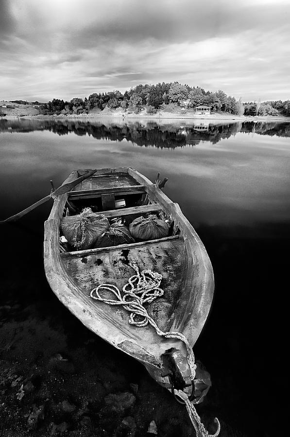 Boat Photograph - Caicque by Okan YILMAZ