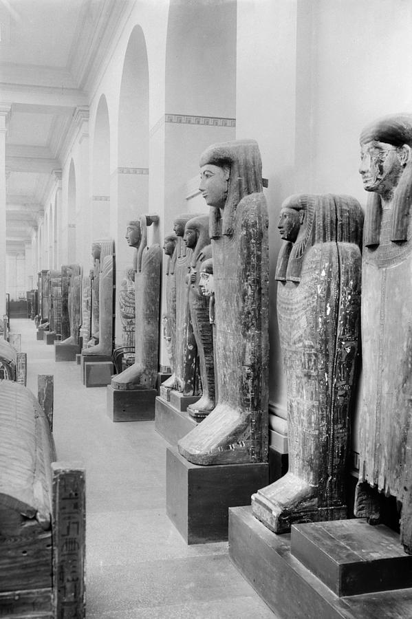 20th Century Photograph - Cairo Egyptian Mummies by Granger