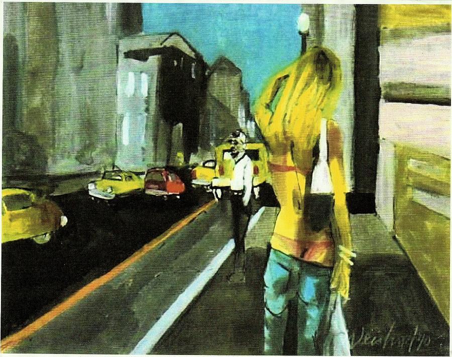 Urban Painting - California Dreamin Calif Tan by Harry WEISBURD