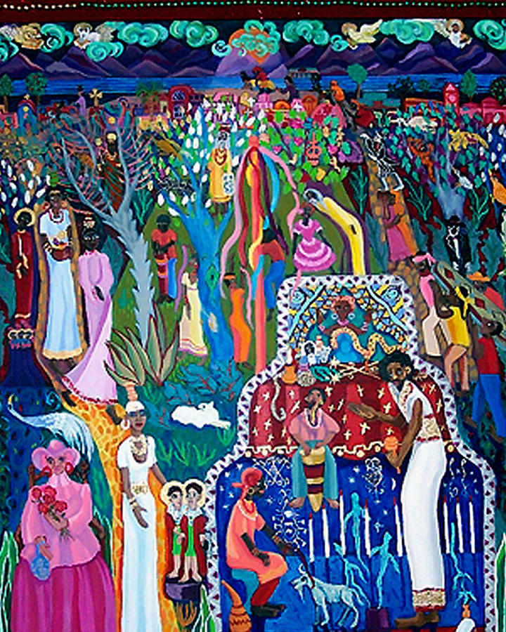 People Painting - Calling The Spirits by Maria Alquilar