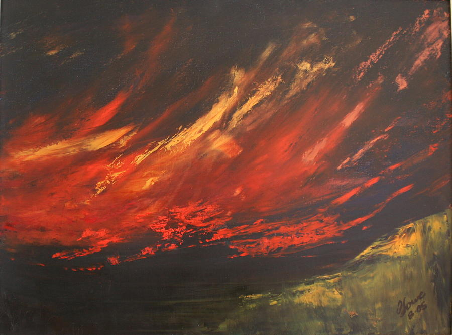Clouds Painting - Camberwell Skies by Jan Lowe
