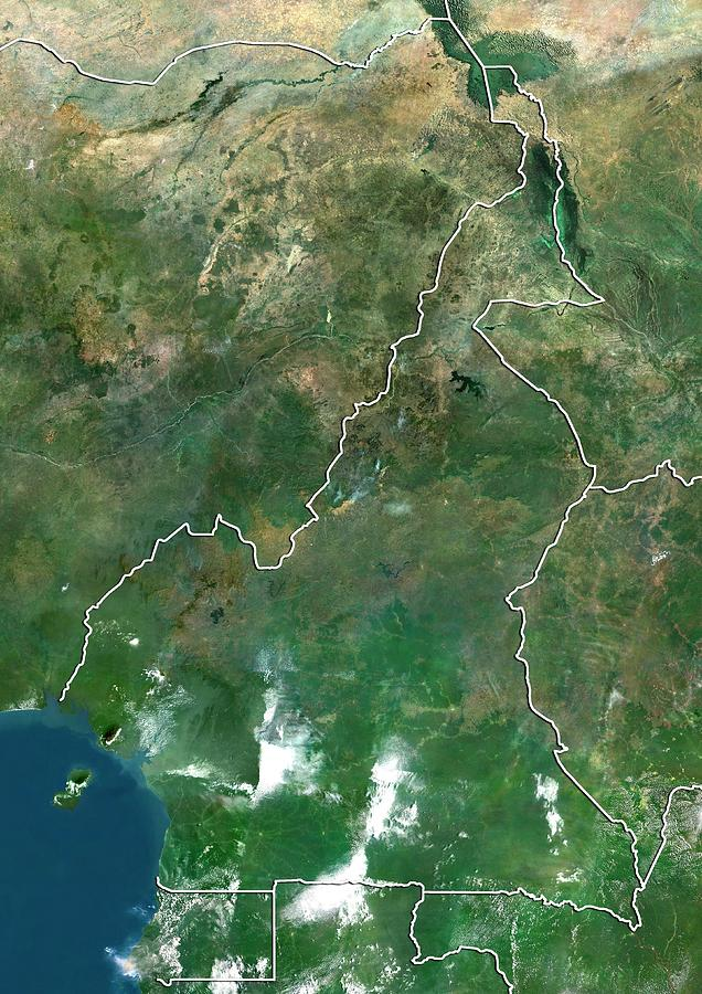 21st Century Photograph - Cameroon by Planetobserver/science Photo Library