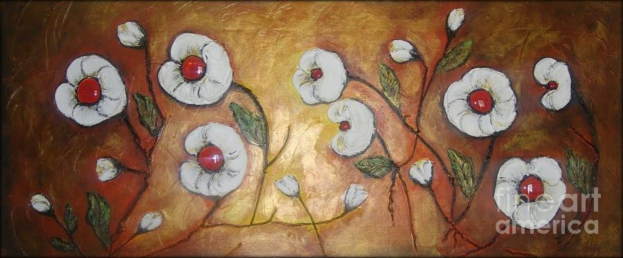 Floral Painting - Candy Flowers  by Elena  Constantinescu