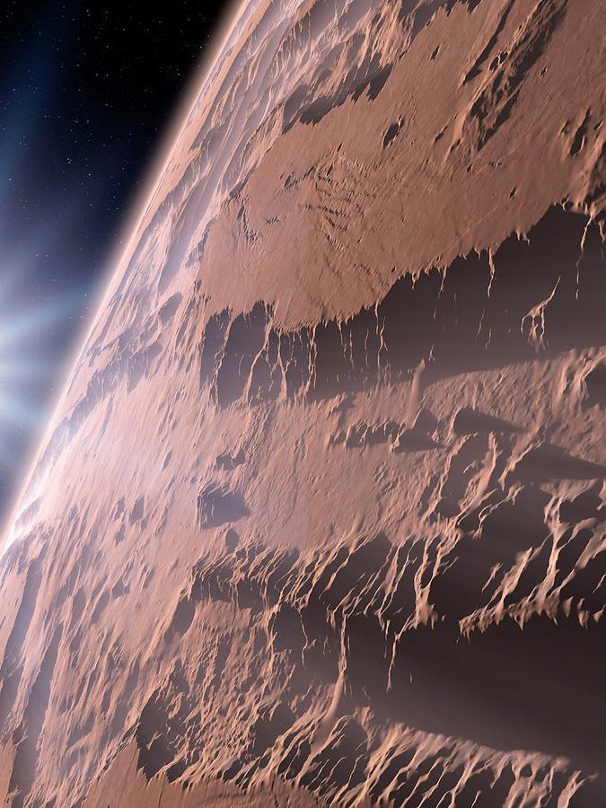 Artwork Photograph - Canyons On Mars by Detlev Van Ravenswaay