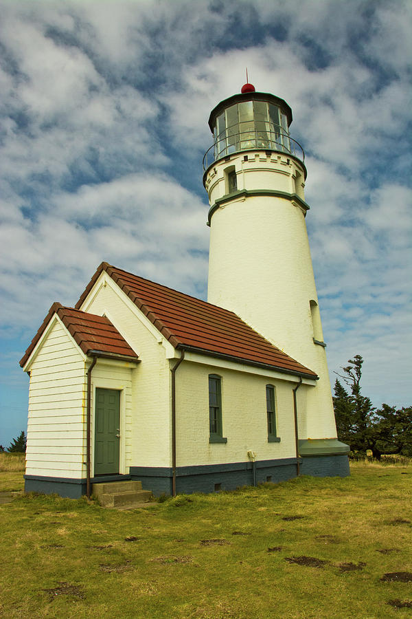Architecture Photograph - Cape Blanco Lighthouse, Cape Blanco by Michel Hersen