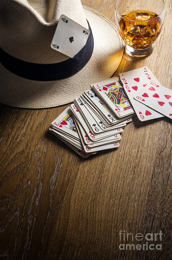 20s Photograph - Card Gambling 1 by Carlos Caetano