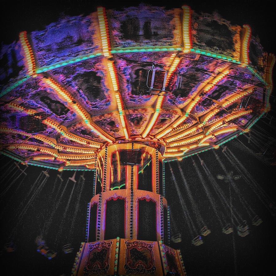 Carousel Photograph - Carousel by Angel Eowyn