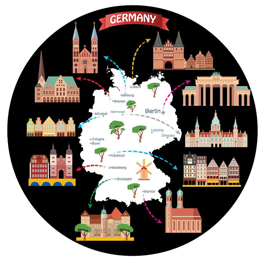 Cartoon Map Of Germany.Cartoon Map Of Germany By Drmakkoy