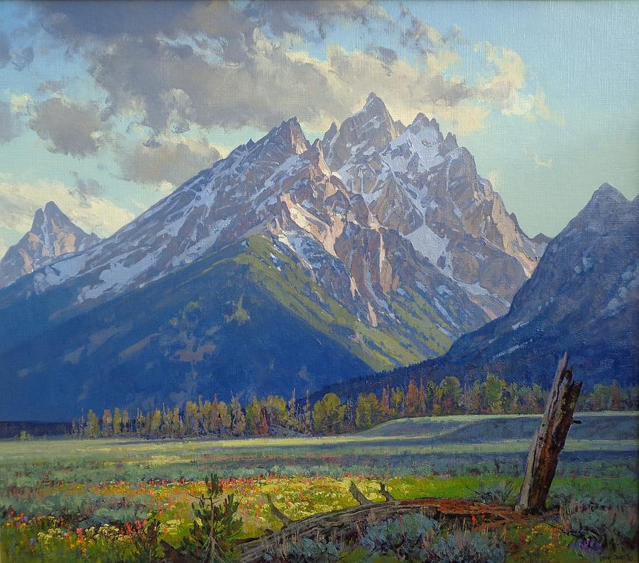 Landscape Painting - Cascade Canyon Shadows by Lanny Grant