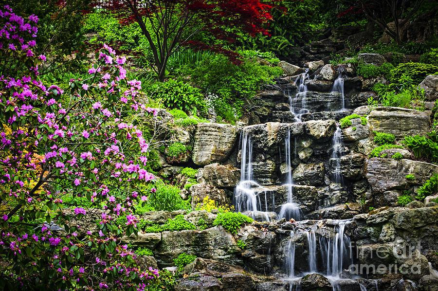 Waterfall Photograph - Cascading Waterfall by Elena Elisseeva