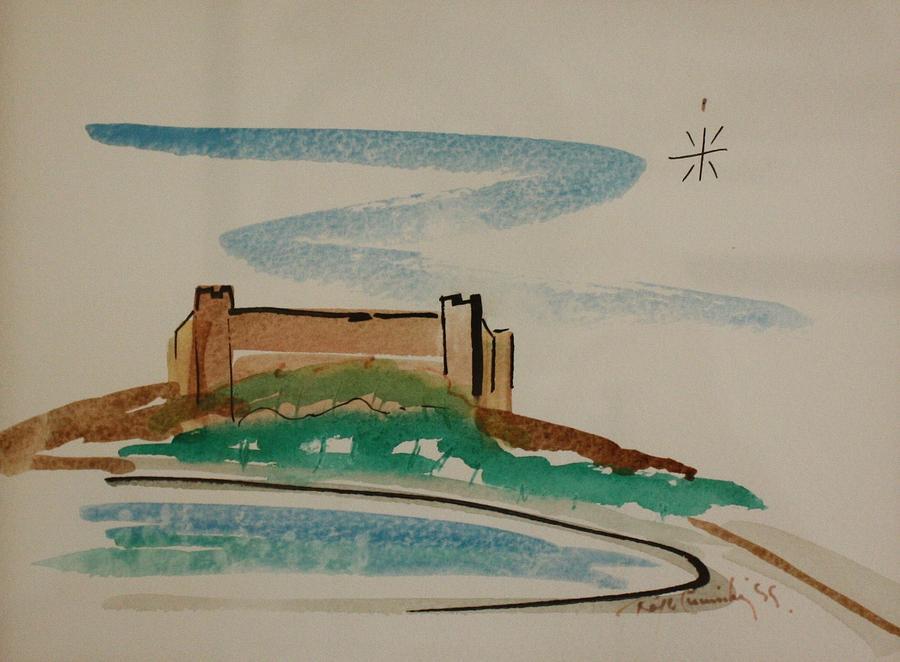 Painting Painting - Castillo Sohail  by Roger Cummiskey