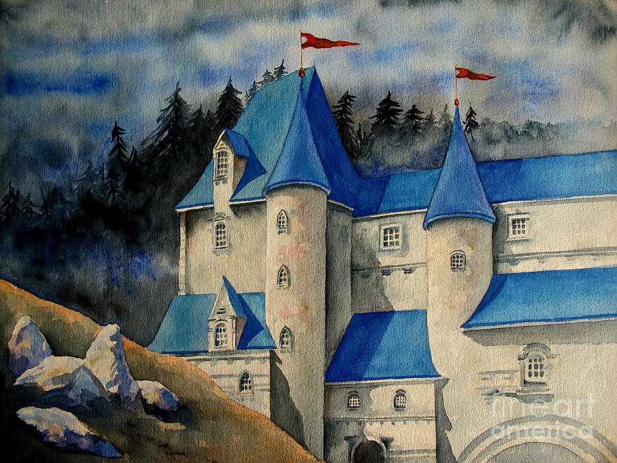 Castle Painting - Castle In The Black Forest by Ranjini Kandasamy