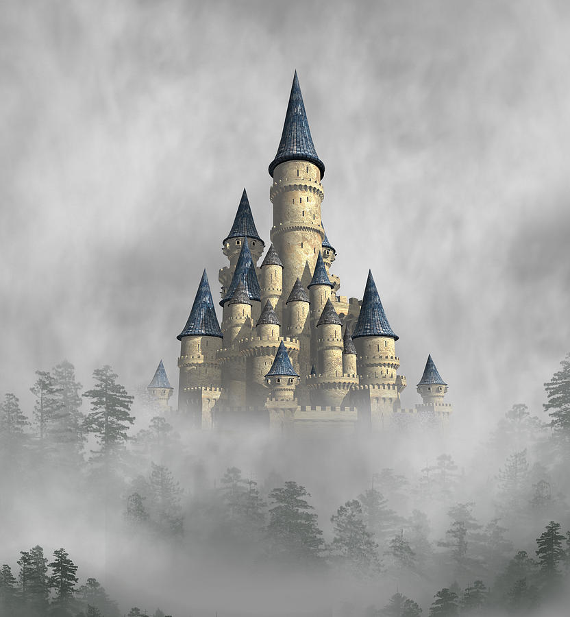 Fantasy Digital Art - Castle In The Clouds by David Griffith