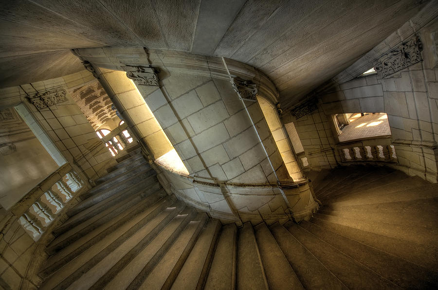 Chambord Photograph - Castle Stairs by Ioan Panaite