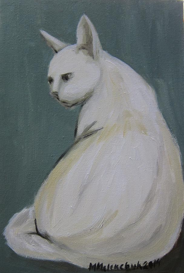 Cat Painting - Cat 2014 by Maria Melenchuk