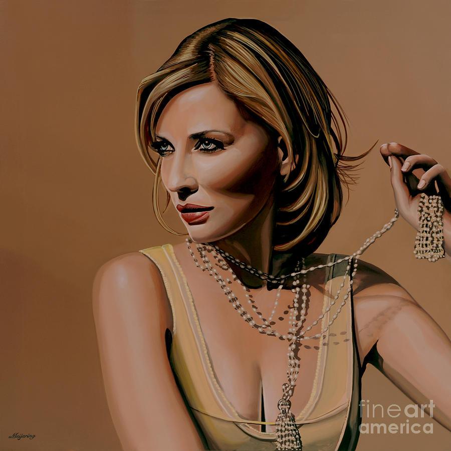 Cate Blanchett Painting - Cate Blanchett Painting  by Paul Meijering