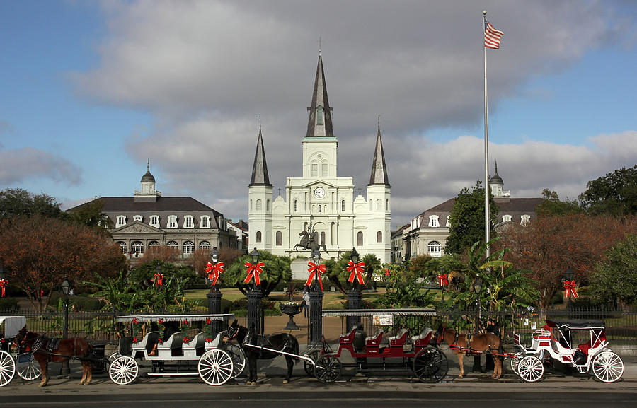 New Orleans Painting - Cathedral Symmetry by Robert Sutton