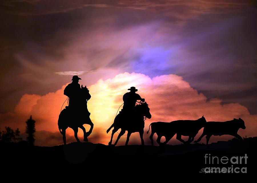 Cowboy Photograph - Cattle Drive by Stephanie Laird