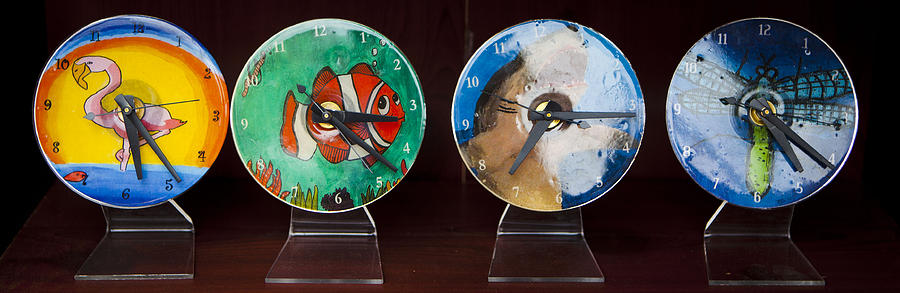 Clock Tapestry - Textile - Cd Clocks For Sale by Fred Hanna