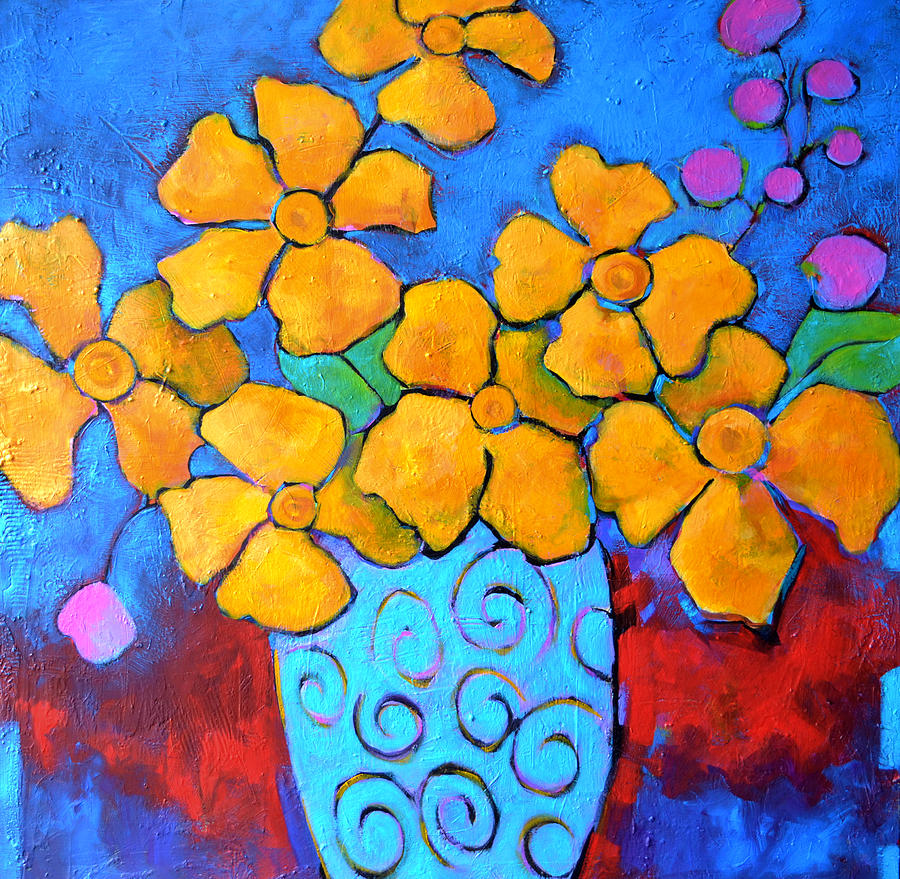Flowers Painting - Celebration by Filomena Booth