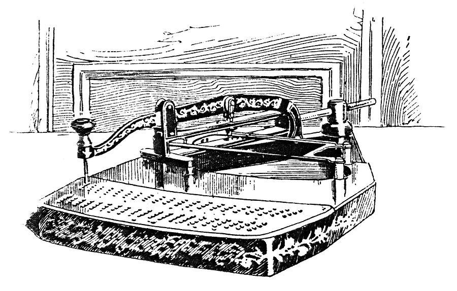 1890 Painting - Census Machine, 1890 by Granger