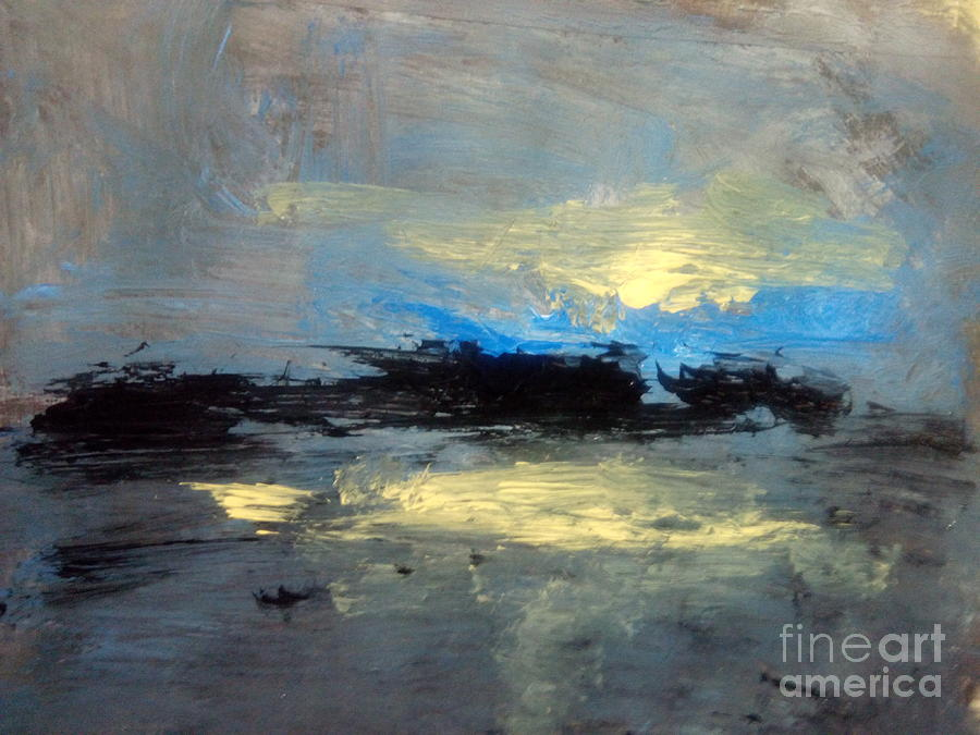 Abstract Landscape Painting - Centre  by Trilby Cole