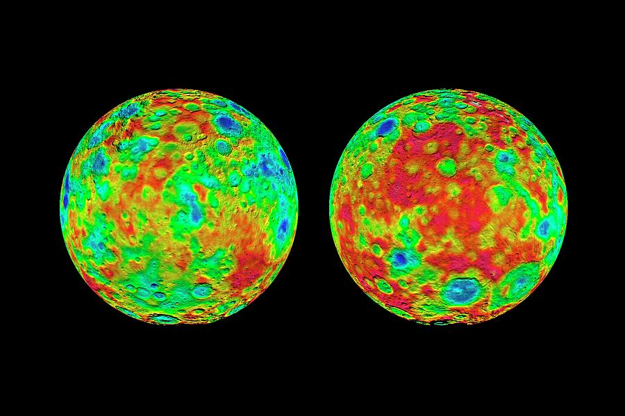Nobody Photograph - Ceres Topography by Nasa/jpl-caltech/ucla/mps/dlr/ida