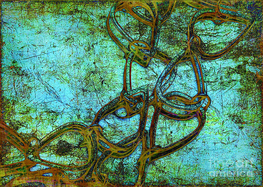 Aqua Photograph - Chain Mail by Judi Bagwell