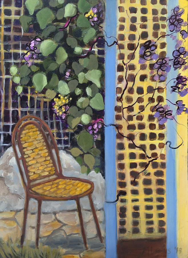 Chair in the Garden by Melanie Lewis