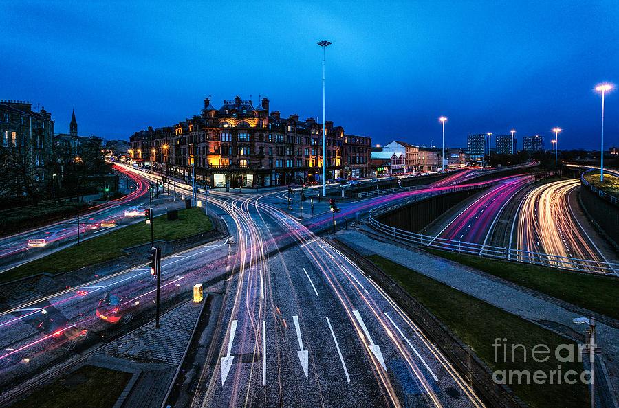 Glasgow At Night Framed Prints Photograph - Charing Cross Glasgow by John Farnan