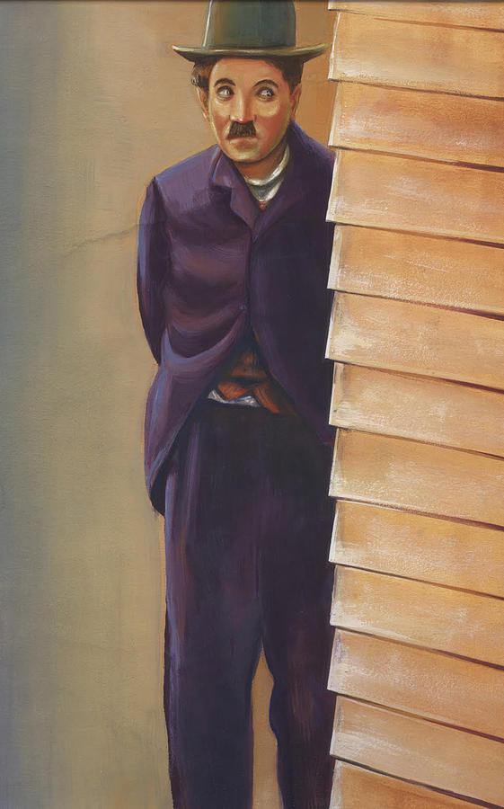 Portrait Mixed Media - Charlie Chaplin by Prakash Leuva
